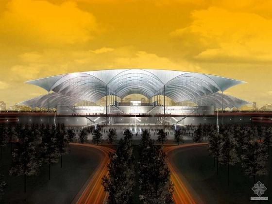 [广州]铁路枢纽新某站概念设计方案(PDF+PPS视频)