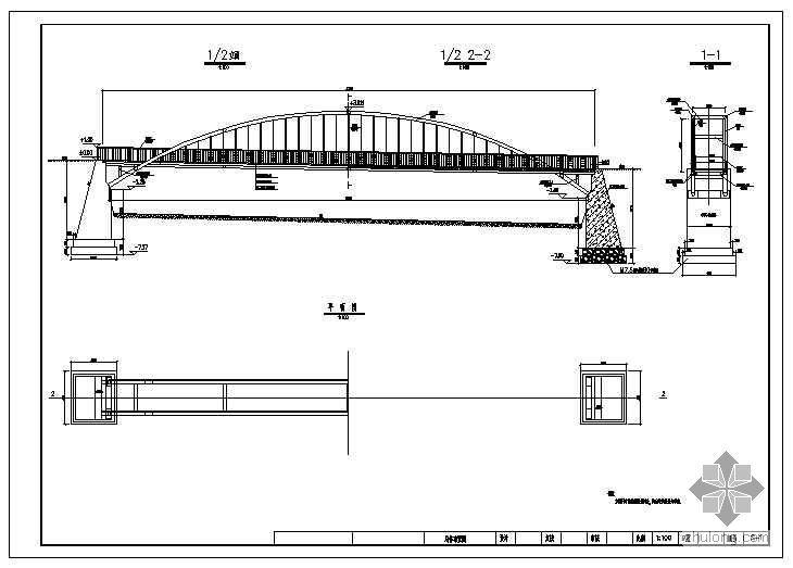 印台区某园林1-36米中承式钢管拱桥施工图设计
