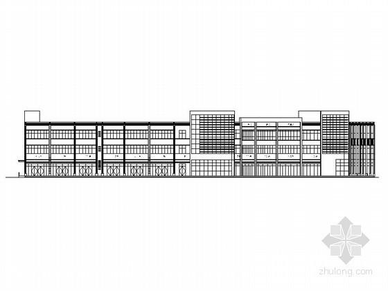 [合肥]新站区某花园小区三层商场建筑施工图