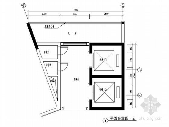 [广州]南湖某花园洋房标准层电梯间装修图(含选材表)