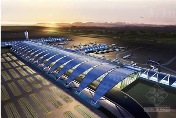 """U型社区服务中心楼资料下载-航站楼超长预应力结构""""设计型混凝土""""研制及施工控制技术"""