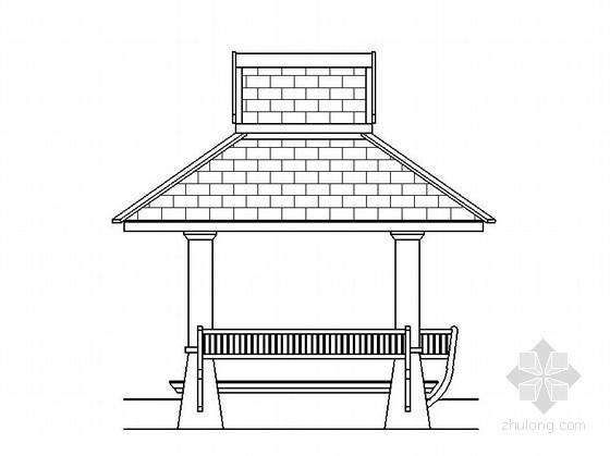 详细的四角木亭子施工图