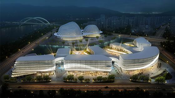 南宁再添城市新地标,文化艺术中心雏形初现