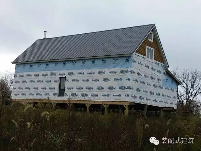 美国农村建房全程实拍——装配式木结构施工,速度快、性能好!_30