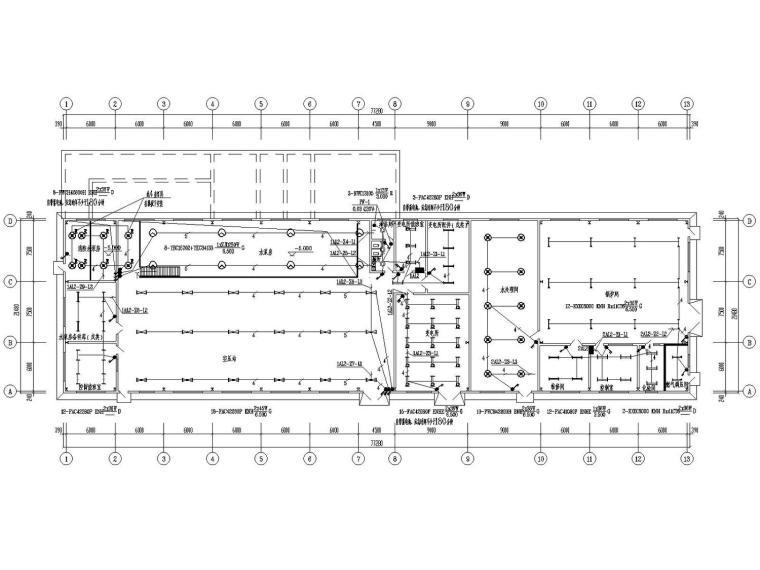 [山东]联合动力站房电气施工图含变电所最新设计