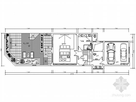 经典简洁雅致新中式四层别墅设计CAD装修图(含效果)