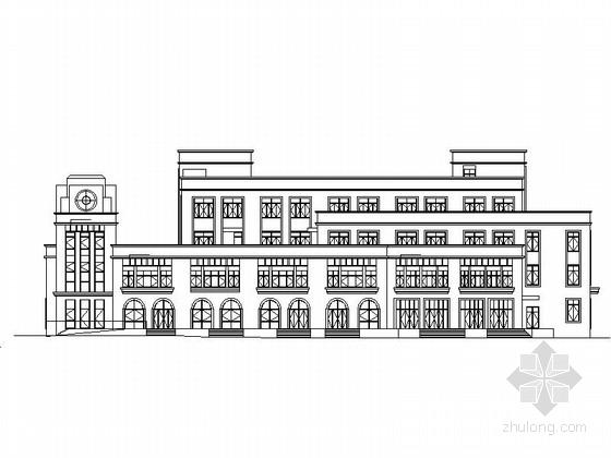 [浙江]现代风格高层大学校园规划设计方案施工图(含效果图)