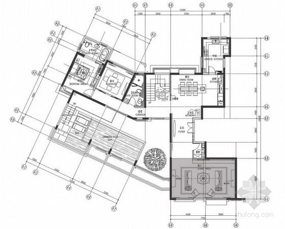 [武汉]精品现代高档双层别墅样板房设计方案图