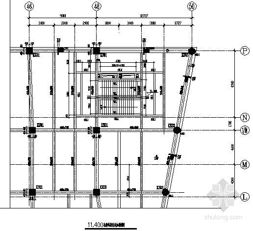 [沈阳]广场钢框架-中心支撑加建楼梯结构施工图-