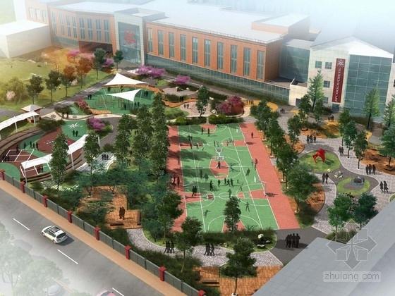[北京]英伦风范国际学校景观规划设计方案