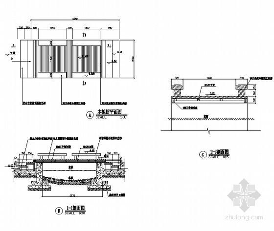 木板桥施工详图