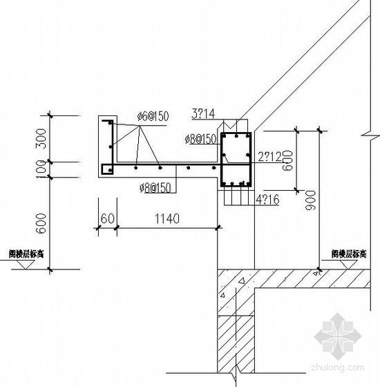 砖混别墅坡屋顶节点构造详图