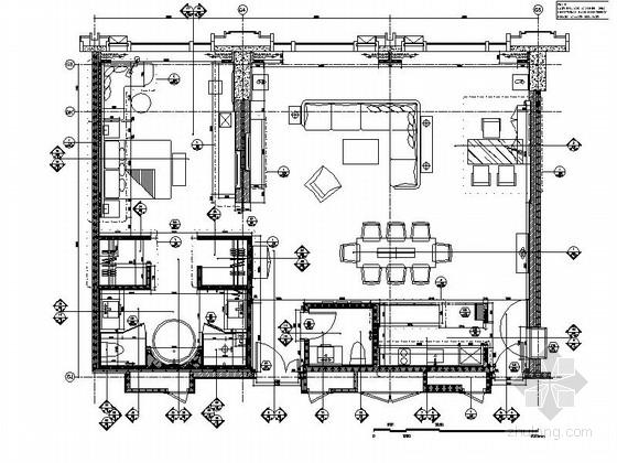 [贵阳]某五星级酒店行政套房装修施工图