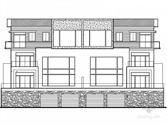 某三层双拼别墅建筑施工图(含效果图)