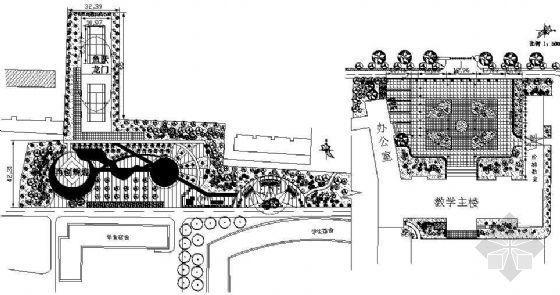 某大学局部规划设计平面图