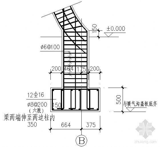 风雨长廊建筑结构详图-3