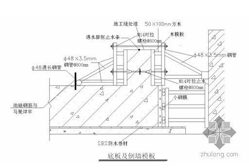 北京某高层地下室模板施工方案(附图及计算书)