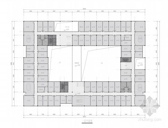 现代简约风格办公楼平面图
