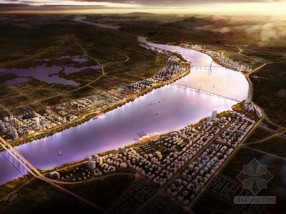 [广东]沿江生态宜居城市规划设计方案文本