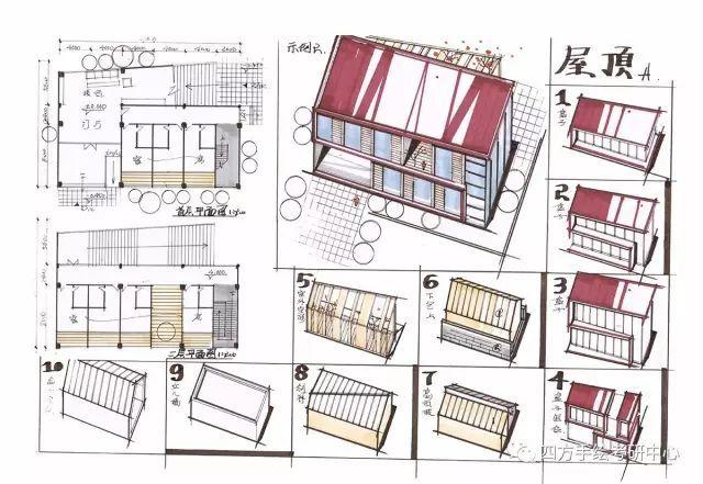 建筑手绘练习小指导