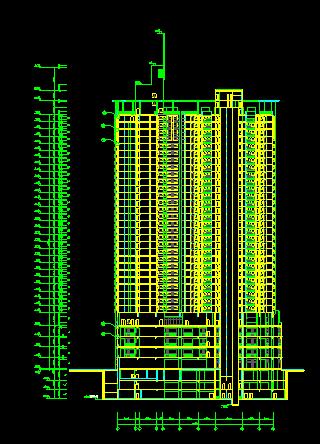 现代风格高层小区性住宅建筑施工图(深圳电子院)
