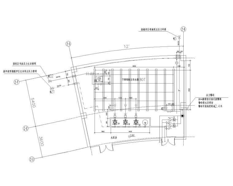 盐城图书馆给排水施工图及装修施工图