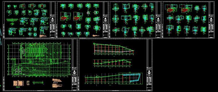 [安徽]古生物博物馆施工图含室外总体设计CAD(120个+包含建筑+结构+给排水+暖气+通电)_3