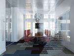 现代小型会议室3D模型下载