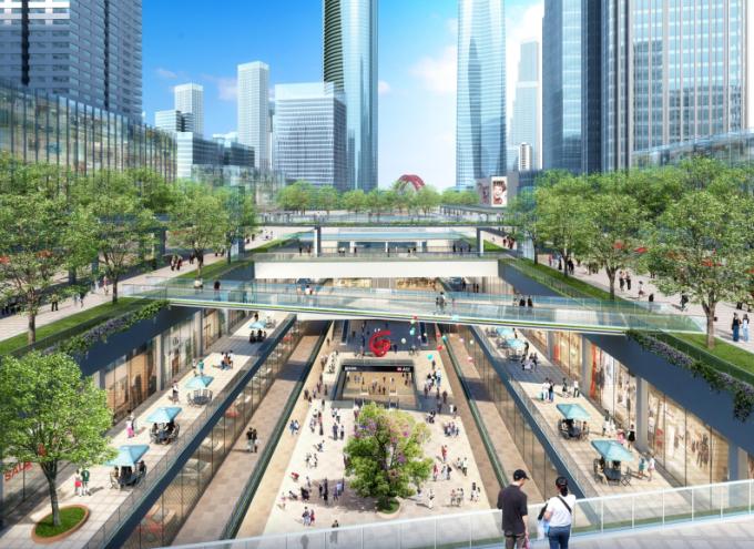 [湖北]生态海绵城市中央绿轴地下立体化商业广场景观绿化设计方案(2017最新)_4