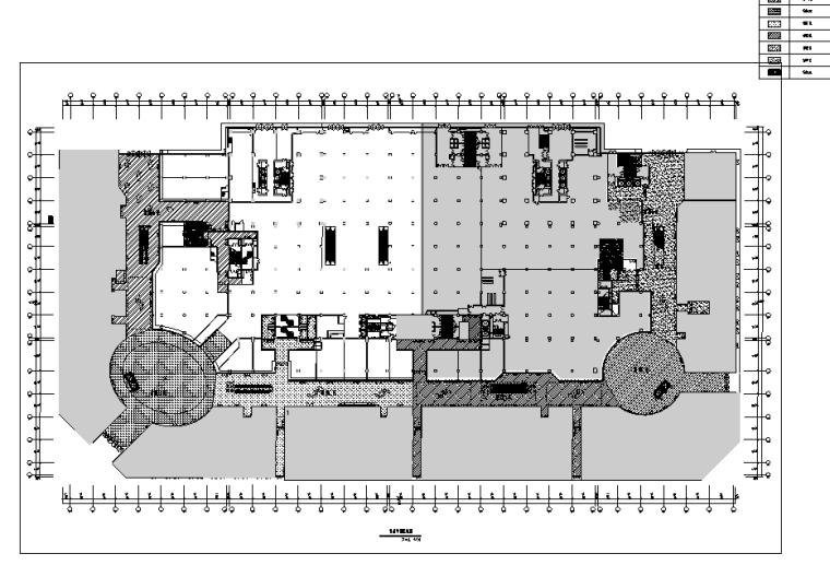 万达广场购物中心室内设计施工图(附效果图)-首层平面区域图