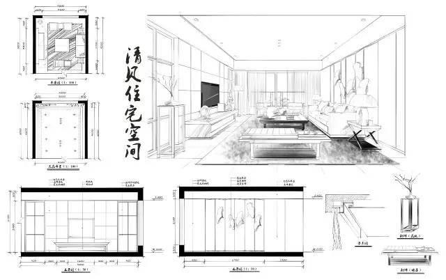 室内手绘|室内设计手绘马克笔上色快题分析图解_21