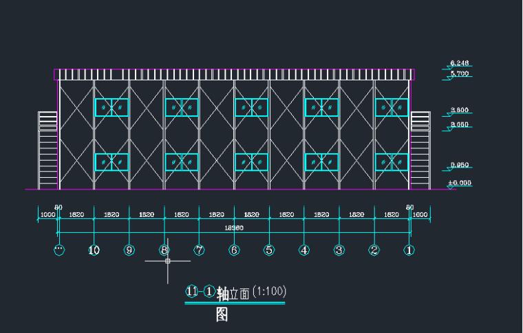 临建施工平面布置图、板房施工图大样