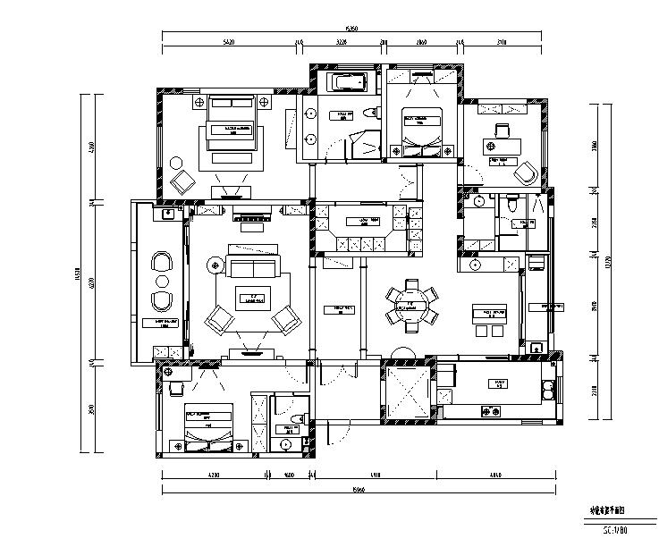 幻城|简约美式国宾一号住宅设计施工图(附效果图)
