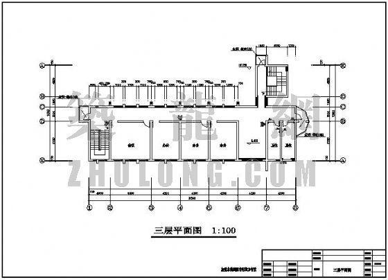 浙江一小型办公楼给排水设计图