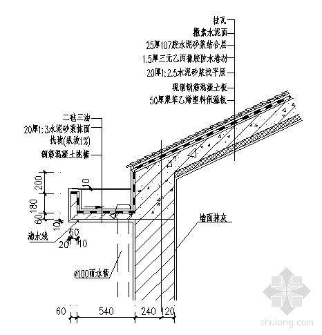 DY-坡屋面天沟详图