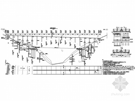 130m等截面悬链线混凝土箱型拱桥施工图(78张)