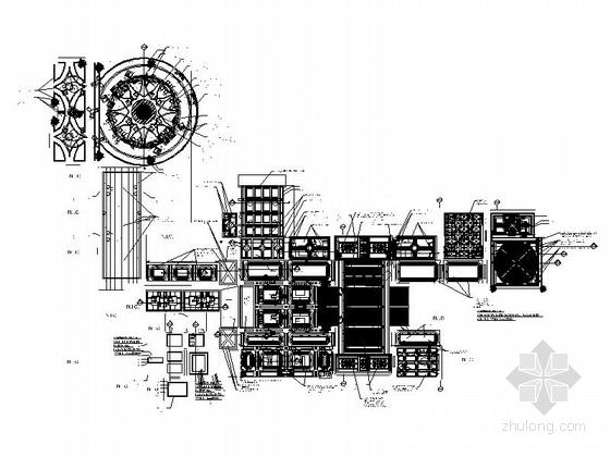 某时尚欧式豪华会所装修施工图