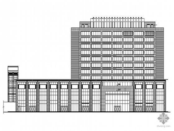 [威海]某十二层汽车广场博览中心建筑施工套图(含无障碍设计)