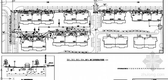北京某小区室外管线布置图