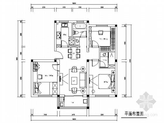 [江苏]现代时尚两居室婚房装修CAD施工图(含实景图)