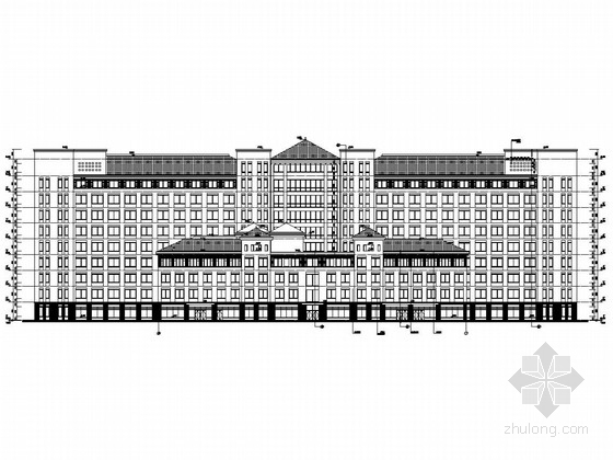 [浙江]人民医院南北区综合楼结构施工图(含建筑图及附属工程)
