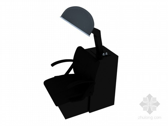 理发店座椅3D模型下载