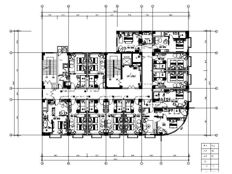 [甘肃]简洁亲民舒适大众型酒店室内设计施工图