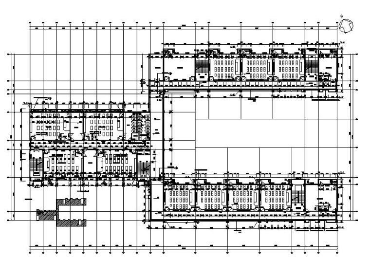 [浙江]五层长条形面砖外墙市级中学建筑施工图(含效果图)_8