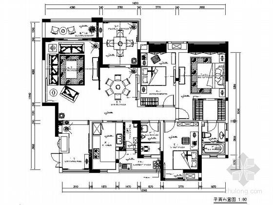 [重庆]某四室两厅混搭风室内装修图