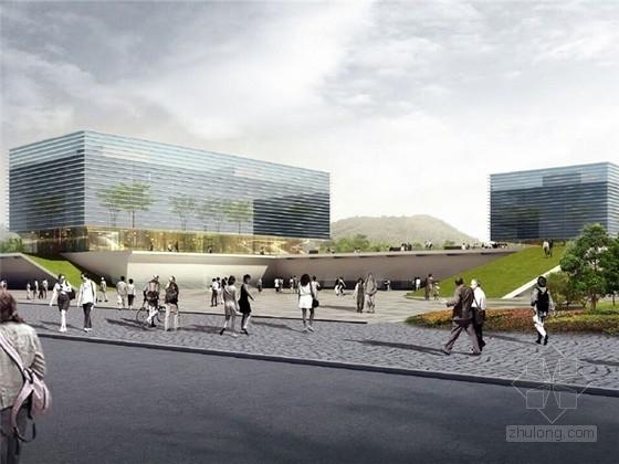 [宜宾]多层中庭式职业办公楼概念设计方案文本
