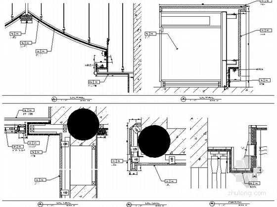 现代中式会所接待厅室内装修节点图