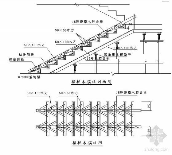 北京某别墅模板工程施工方案(坡屋面  多层板)