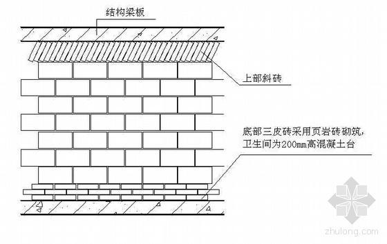 天津某高层砌体工程施工方案(页岩砖 轻集料混凝土空心砌块)