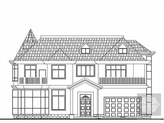 某二层别墅建筑施工套图(含效果图)